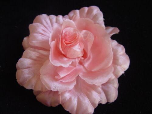 BROOCH GREGORY LADNER CORAL PINK  ROSE FASCINATOR CORSAGE