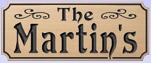 Custom-Carved-Wood-Sign-CEDAR-Chipped-corners-BEST-SELLER-7-x-18-size