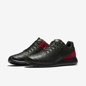 new product 938e0 304cf Image is loading Nike-Roshe-Tiempo-VI-FC-Black-Team-Red-