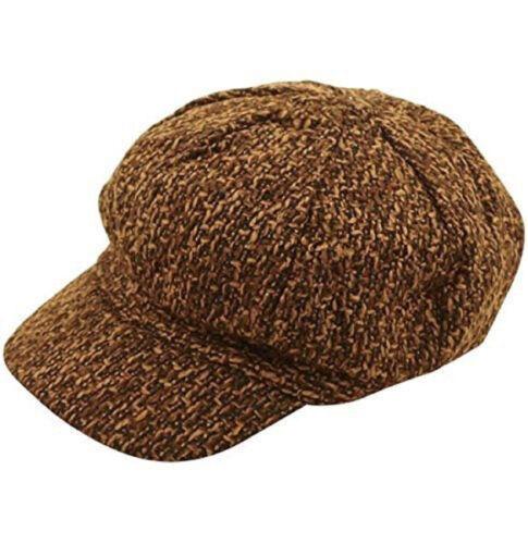 FANCY DRESS BROWN TWEED FLAT CAP HAT PARTY PEAKY COSTUME VICTORIAN OLIVER TWIST