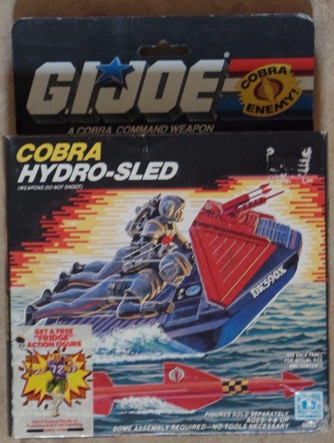 GI Joe COBRA Hydro-Sled Hasbro 1985 New MIB Open Box - SEALED Contents