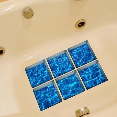 3D Antirutsch Aufkleber Sticker für Duschen 6 Stk Fliesen