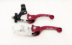 Brake Levers Honda TRX ASV Unbreakable F3 Shorty Red Pair Pack Folding Clutch