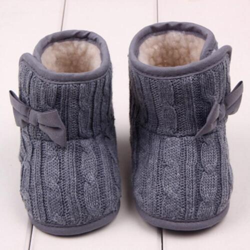 2017 Bébé Crochet Polaire Bottes Fille Toddler laine neige Chaussons Crib Chaussures