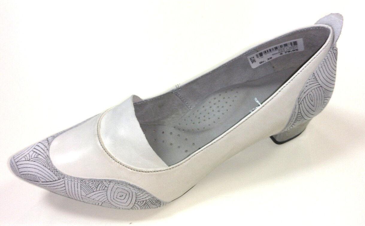 Maciejka Polen Damen Schuhe Pumps Slipper 02787 02787 02787 Leder weiß 40mm Blockabsatz b69223