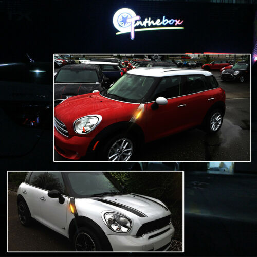 2X LED Side Marker Smoked Turn Signal Light Lamp For MINI Cooper R60 R61