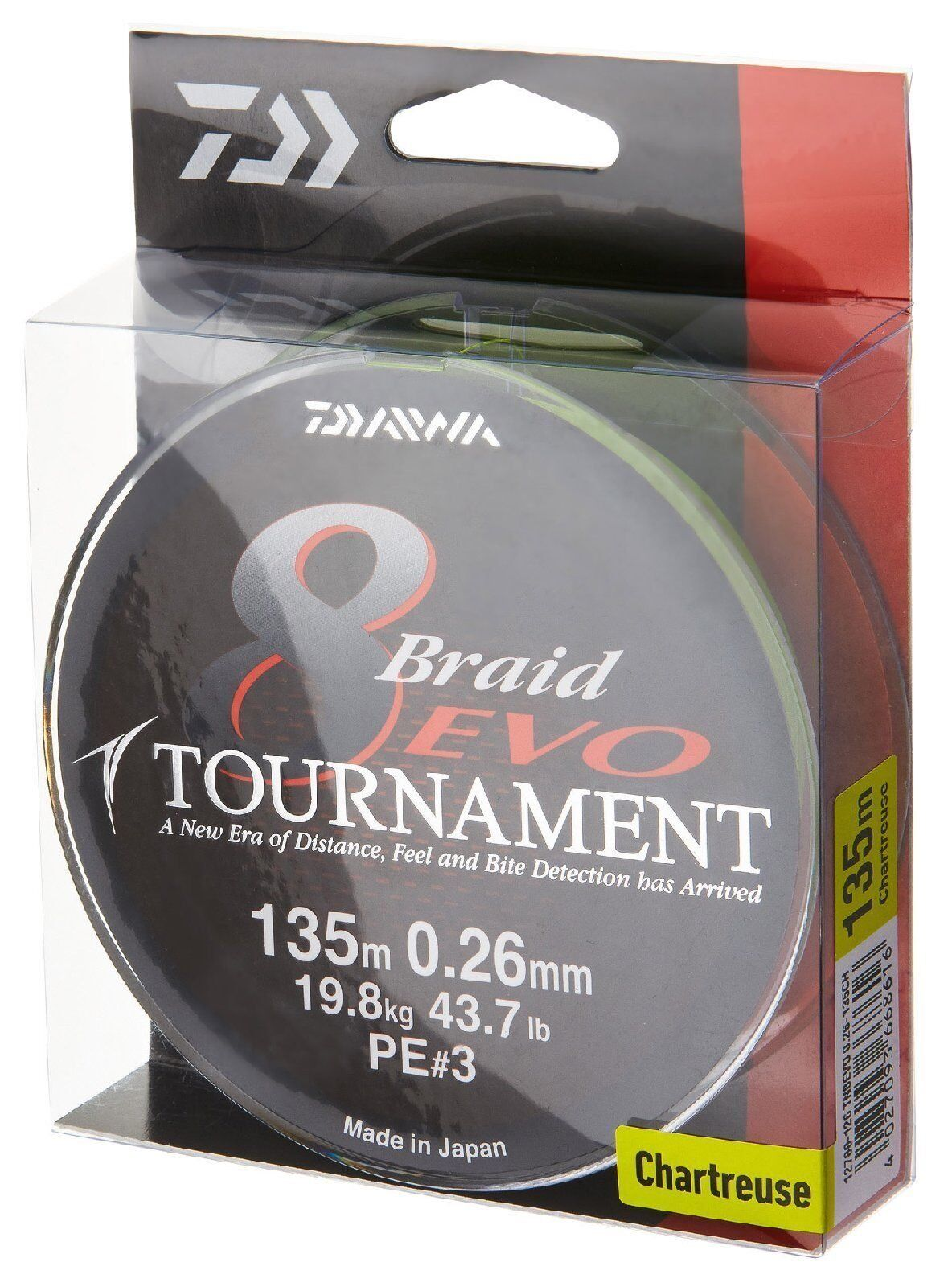 Daiwa Tournament 8 Braid EVO 1000m chartreuse - geflochtene Angelschnur