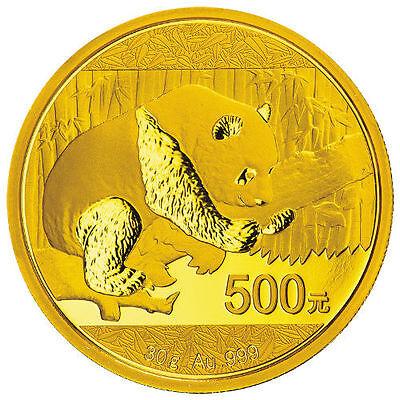 2016 30 Gram Chinese Gold Panda Coin (BU)