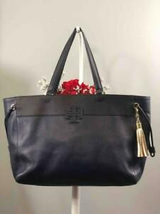 TORY-BURCH-Thea-Navy-Blue-Pebbled-Leather-Extra-Large-Tote-Bag
