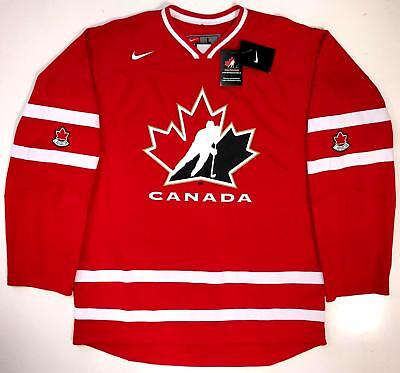 separation shoes 07793 e0085 TEAM CANADA 2009 WORLD JUNIOR CHAMPIONSHIPS NIKE REPLICA RED JERSEY LARGE  NEW | eBay