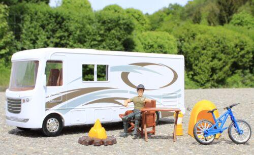 Spielzeug CAMPING-BUS Länge 34cm mit ZUBEHÖR 8 teilig in TOP QUALITÄT     37345