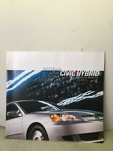 Image Is Loading 2003 Honda Civic Hybrid Brochure