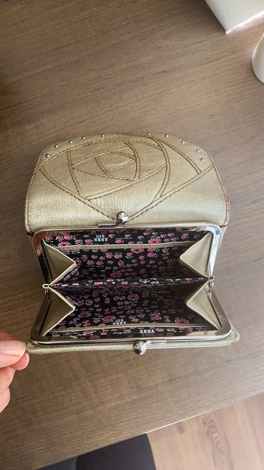 anna sui trifold leather wallet - image 2