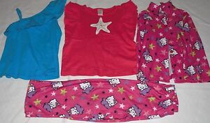 GIRL-CLOTHES-LOT-OF-3-ITEMS-BLOUSE-TOP-PAJAMA-SIZE-6
