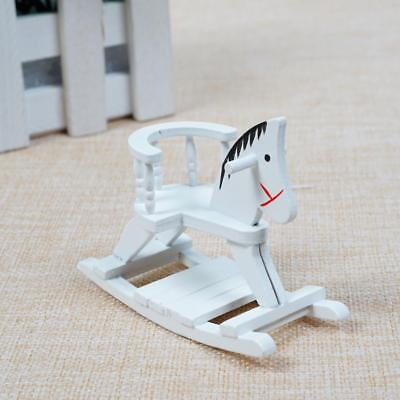 Mini Wooden Trojan Horse Toy For 1:12 Miniature Dollhouse Decorations DIY Gifts