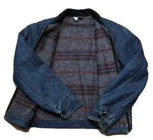Vintage Wrangler Blanket Lined Denim Chore Jacket