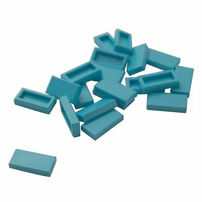 Lego 20 New Medium Azure Tiles 1 x 2 with Groove with Smartphone with Phone Mail