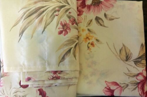 """60/"""" x 36/"""" BETTY # 2 FLOWERS Details about  /3 pc Set Kitchen Curtains: 2 Tiers /& Valance"""