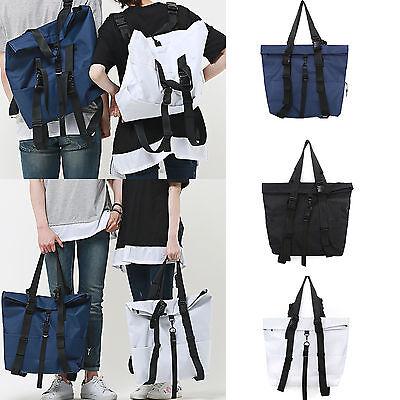 Korea Fashion Men Women Multi Tote Backpack Shoulder Bag School Travel Office