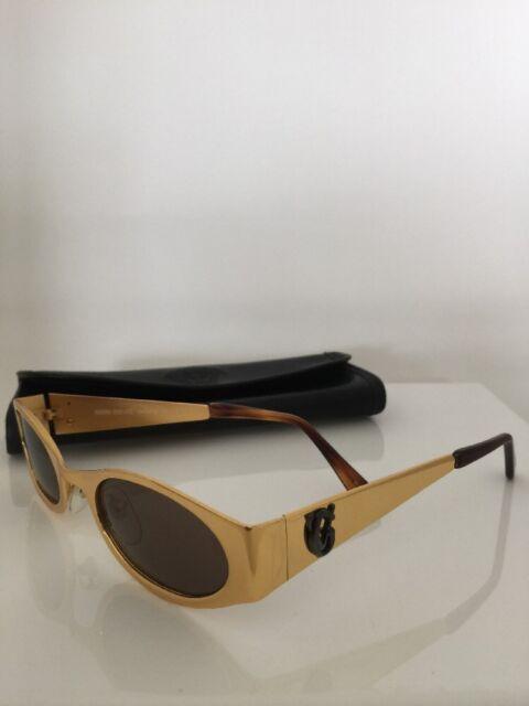 80076cb50bd Vintage Cat Eye Gianni Versace S99 Sunglasses Mod. S99 Col. 030 Shiny Gold  Italy