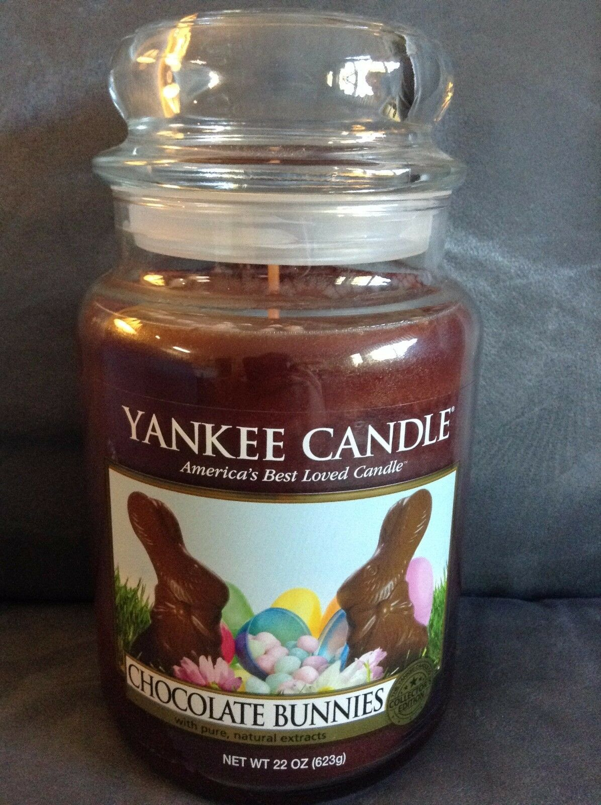 YANKEE CANDLE CHOCOLATE BUNNIES 22 OZ EASTER BUNNY JAR CANDLE - BRAND NEW