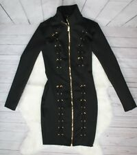 Fashion Nova Small Black Dress Black Dress with gold zipper size small