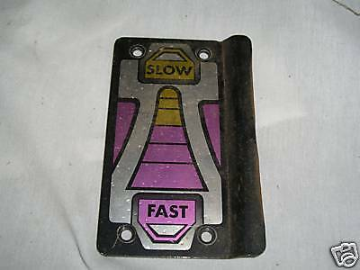 Replacement Parts Slow/fast Metal Plate/mount From Sega Galaxy Force Ii 2 Lustrous Surface Collectibles