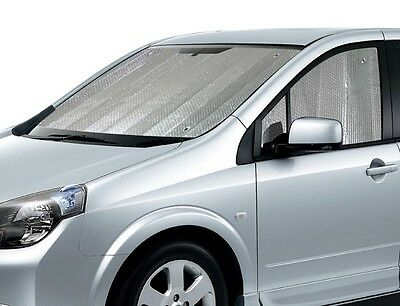 SILVER FRONT WINDSCREEN INSULATED INTERIOR CAR SUN SHADE WITH SIDE PANELS