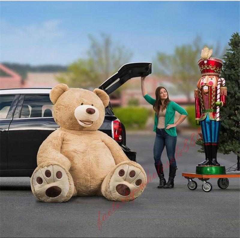 "78/"" 200 cm Brown Giant Skin Teddy Bear Big Stuffed Toy Christmas Gift Hot"