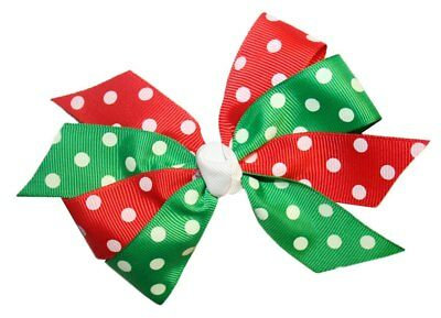 Girls' Accessories Clothing, Shoes & Accessories Wd2u Girls Christmas Dotted Grosgrain Holiday Hair Bow French Clip Barrette Preventing Hairs From Graying And Helpful To Retain Complexion