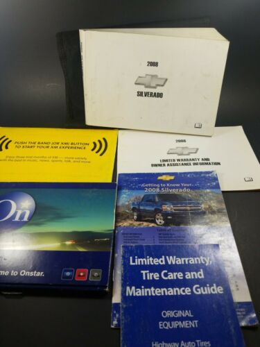 2008 Chevrolet Silverado 1500 2500 3500 Owners Manual with Case