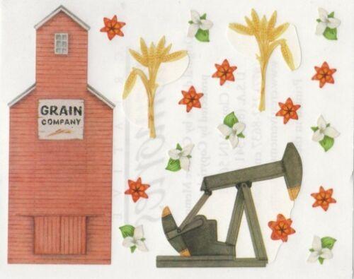 NEW Creative Memories BLOCK STICKER Grain Silos Sightseeing Canada Sticker