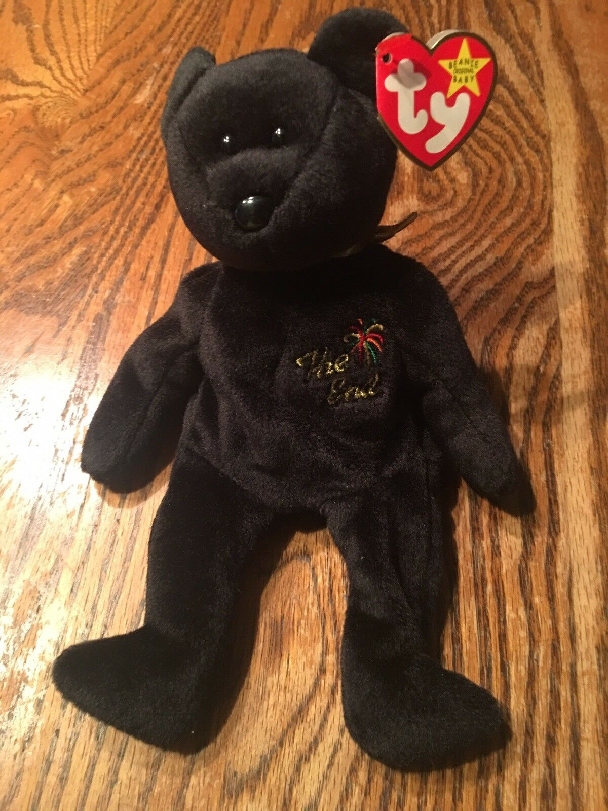 "Retired TY Beanie Baby ""The End"" Bear. Rare with Errors."