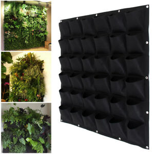 Garden-Wall-Planting-Hanging-Bag-36-Pot-Pocket-Planter-Vertical-for-Herb-Outdoor