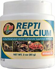 ZOO MED REPTI CALCIUM WITHOUT D3 3 OZ REPTILE SUPPLEMENT FREE SHIPPING IN USA
