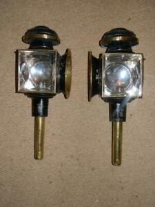 Antique-Pair-Of-English-Brass-Furnisht-Candle-Carriage-Coach-Lamps
