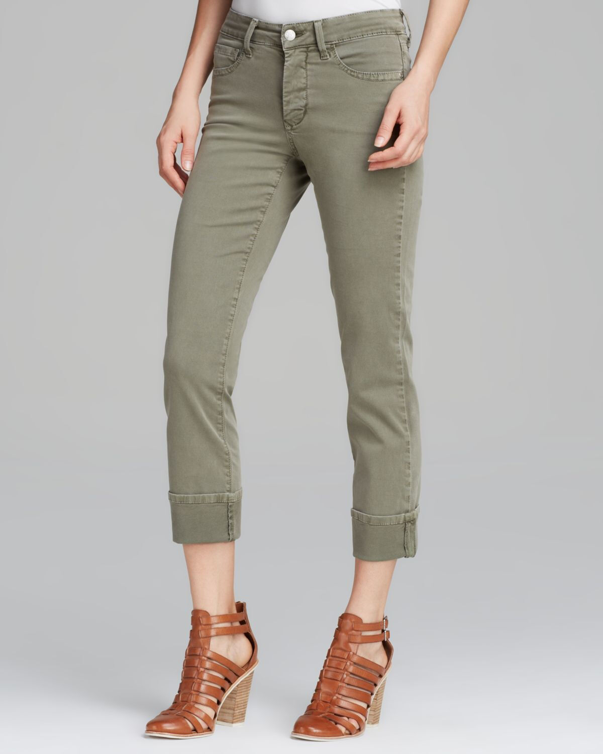 NWT NYDJ Not Your Daughter's Jeans Bobbie Boyfriend Fennel Cropped Pants Jeans 4