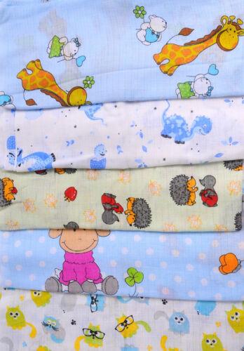 SPUCKTÜCHER MULLWINDELN SET Baby Mulltücher Tuch Babytuch Mulltuch Tücher BUNT