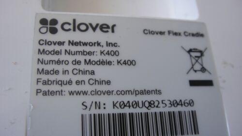 Clover Dock K400 charging Cradle base NO P//ADAPTER LOT OF 2