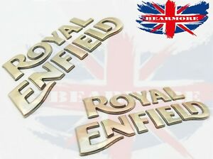 Royal Enfield Bullet Classic Fuel Tank Logo Badge Emblem Monogram Pair Uk Seller Ebay