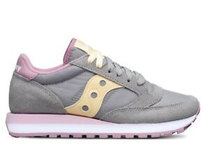 Saucony-Jazz-S1044-515-Grigio-Sneakers-Donna-Bambini-Scarpa-Casual-Sportiva
