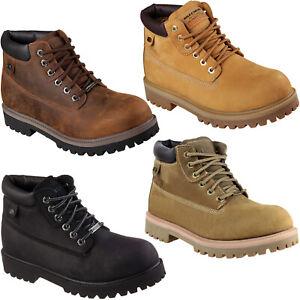 Entretenimiento ~ lado Facilitar  Skechers Verdict Botines Impermeable Hombre Memoria Espuma Zapatos de Cuero  4442   eBay