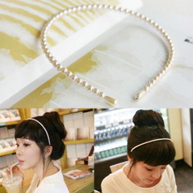 Fashion Pearl Hair Hoop Hair Band Elegant Headband Jewelry For Women Girls Newly
