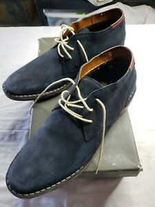 Kenneth-Cole-Reaction-Desert-Sun-Suede-Boots-Navy-Sz-11-Pre-Owned
