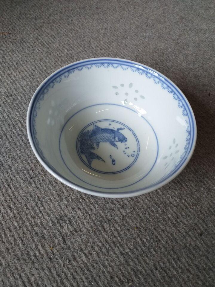 Porcelæn, Kinesisk skål, Kina