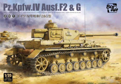 Border BT-004 1//35 scale Pz.Kpfw.IV Ausf.F2/&G 2IN1 TANK MODEL 2020