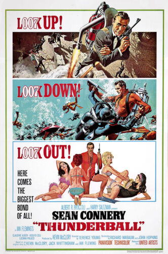007 Thunderball James Bond Movie Poster Glossy Finish Posters USA MOV188