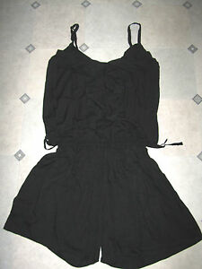 Plus-Size-16-18-20-22-24-26-Jumpsuit-Playsuit-Romper-Black-Animal-Frill-Ruffle