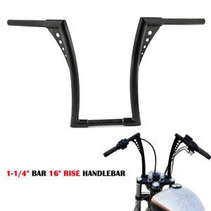 Nior-1-1-4-034-Guidon-Handlebars-16-034-Ape-Hangers-Bars-Pour-Harley-Davidson-Custom