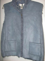 Misses Large Blue Sweater Vest From Macys With Tag $60